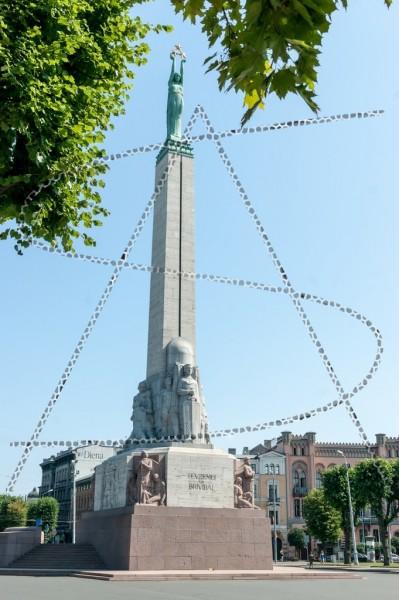 lettisches Freiheitsdenkmal (Brīvības piemineklis) in Riga