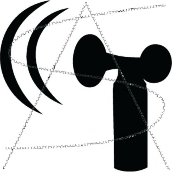 Drucklufthorn mit Schallwellen