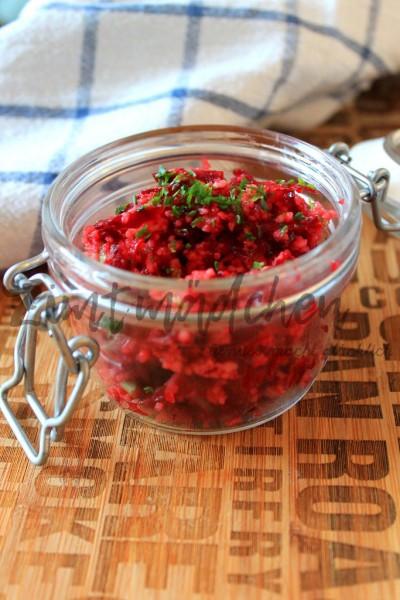 Couscous-Salat mit Rote Bete im Einweckglas
