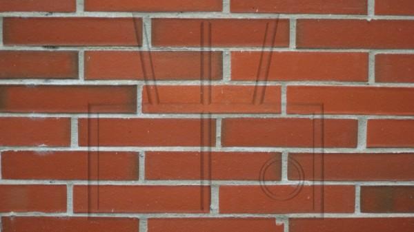 Wand mit roten Klinkern, nicht neu