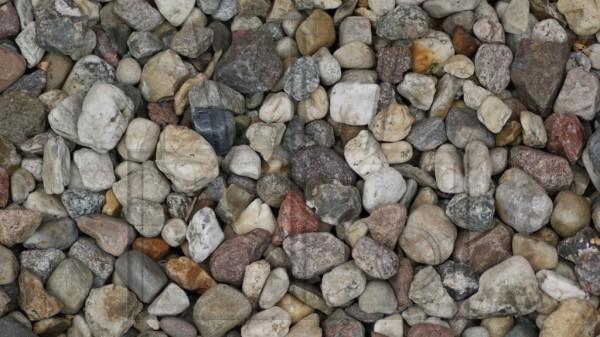 Kieselsteine aus Vogelperspektive