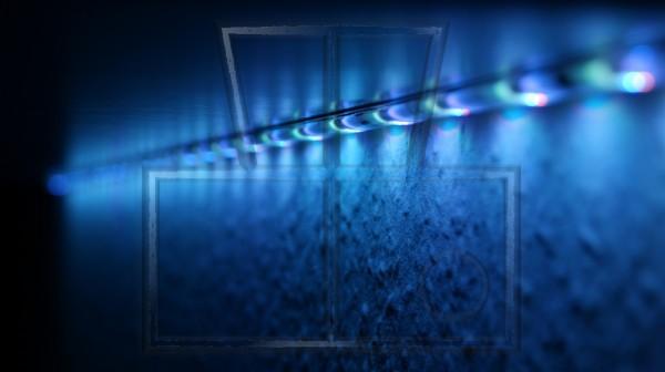 blau-weißes Licht von RGB-LEDs