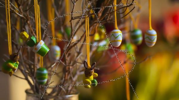 Miniaturstrauß zu Ostern
